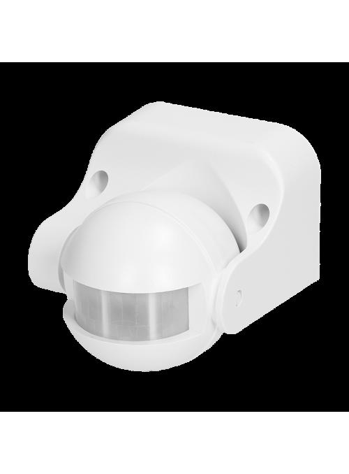 Czujnik ruchu 180st., pionowa regulacja, IP44, 1200W, biały
