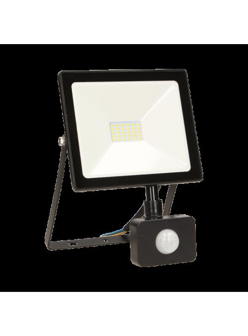 Naświetlacz z czujnikiem ruchu LEDO LED, 10W, 800lm, IP44, 4000K, czarny
