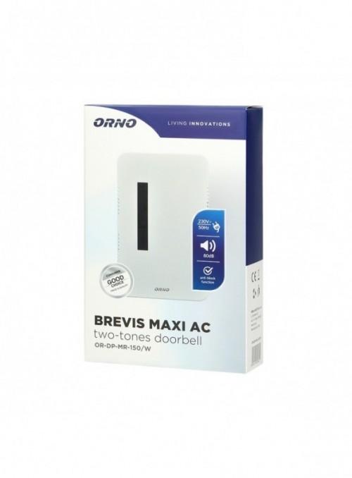 Dzwonek elektromechaniczny dwutonowy BREVIS MAXI AC, 230V, biały
